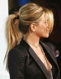 Jennifer Aniston shows that ponytail's don't have to be perfectly sleek and done-up.