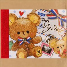 mini memo pad Teddy bear with camera Kawaii from Japan
