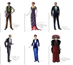 70th Academy Awards - Oscar for Best Costume Design - Titanic – Deborah Lynn Scott. Costume design illustrations