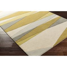 Zipcode Design Dean Hand-Tufted Green/Neutral Area Rug Rug Size: