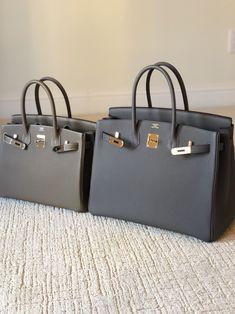 comparison between beton (GHW) and gris perle. Hermes Birkin, Birkin 25, Hermes Bags, Hermes Handbags, Fashion Handbags, Fashion Bags, Fashion Fashion, Runway Fashion, Fashion Trends