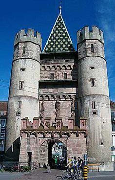Medieval Spalentor. Basel. SWITZERLAND.