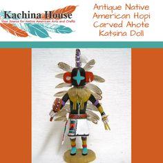 Antique Native American Hopi Carved Ahote Katsina Doll