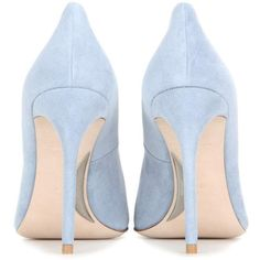 Miu Miu Suede Pumps (10,005 MXN) ❤ liked on Polyvore featuring shoes, pumps, heels, blue shoes, miu miu shoes, miu miu pumps, blue pumps and suede shoes