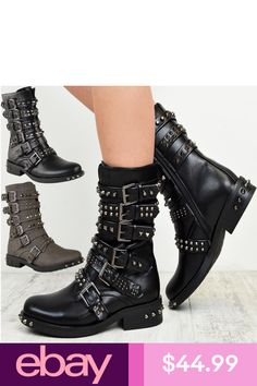 accaf6ab18 Branded Fashion Shoes Clothing, Shoes, Accessories. eBay Australia ·  Products · The 1990s goth faux leather lace up chunky heels platform boots  ...