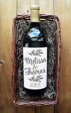 Wedding Wine Labels - Custom Wine Labels - 4 Label sheet