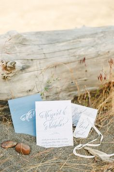 Boho Beach Wedding Stationery by Elli | Jason Wasinger Photography