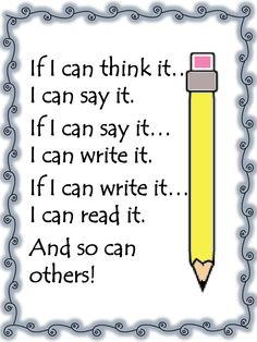 FREE Poster for Younger Elementary Students so they better understand what to write!