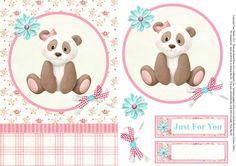 Cute panda topper decoupage on Craftsuprint - View Now!