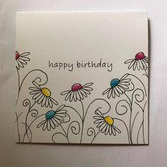 Handmade Journals Nice font cards cards for him Cute Cards, Diy Cards, Karten Diy, Flower Doodles, Doodle Flowers, Envelope Art, Paint Cards, Handmade Journals, Handmade Bookmarks