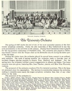 1926-27 UO university orchestra.  From the 1927 Oregana (University of Oregon yearbook).  www.CampusAttic.com