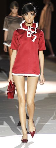 Marc Jacobs: New York Fashion Week Spring 2013 - red ruffles