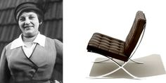 Lilly Reich- first female interior designer at the Bauhaus and collaborative designer of the Barcelona Chair