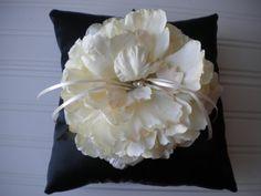 Cream Peony Ring Bearer Pillow by DaniCalve on Etsy, $22.00