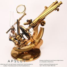 A ROSS-WENHAM UNIVERSAL INCLINING & ROTATING BINOCULAR MICROSCOPE, ENGLISH CIRCA 1888. Signed on the base Ross 5415 this is a fine example of Wenham's Universal Inclining & rotating microscope often referred to as the 'Ross Radial'. in inclined position