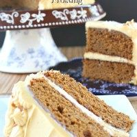 Gingerbread Cake with Molasses Cream Cheese Frosting - Great Grub, Delicious Treats