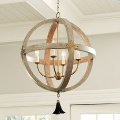 Clarissa 4-Light Orb Chandelier | Ballard Designs-remove tassel and put glass ball