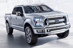 """La Ford Atlas concept truck, se define como la """"camioneta mas masculina jamas creada""""sus lineas solidas, faros de luz  azul, y su potente motor le han otorgado dicho titulo. (ademas que solo se consigue en azul, plata, cromo y negro)"""