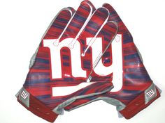 newest 8d5d0 d941a Jay Bromley Game Worn   Signed New York Giants Team Logo Nike Superbad 3XL  Gloves