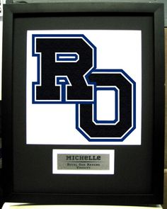 Varsity Letter frame with customized name by personalizedframing, $60.00