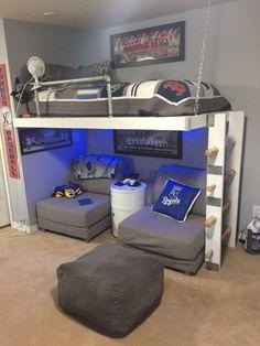 Image result for loft bed reading lounge