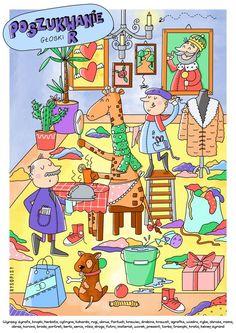 Poszukiwanie głoski r - plakat - ePedagogika Diy And Crafts, Kids Room, Classroom, Education, Comics, Logos, School, Ideas, Speech Language Therapy