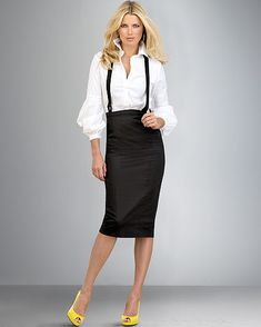 A Marmie Life: Suspenders for Women Suspenders Fashion, Suspenders Outfit, Suspenders For Women, Boho Outfits, Skirt Outfits, Cute Outfits, Black Outfits, Work Fashion, Modest Fashion