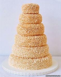 Loose Petal Wedding Cake | Martha Stewart Weddings