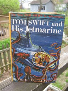 Tom Swift And His Jetmarine, By Victor Appleton II, Copyright 1954 Harcover,  Illustrated By Graham Kaye by junkblossoms2 on Etsy