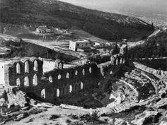 Paul Collart Αθήνα άποψη Ωδείου Ηρώδη του Αττικού ημερομηνία άγνωστη