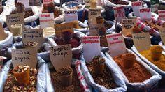 Spices at the Green Bazaar in Almaty