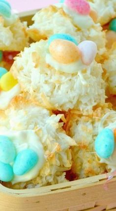 Macaroon Bird's Nest Cookies