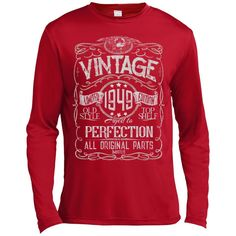 Vintage Aged To Perfection 1949 - 69th Birthday Gift T-shirt