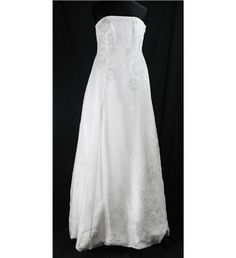Monsoon - Size 10 - white - strapless silk wedding dress | Oxfam GB | Shop