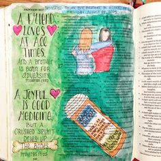 In honor of my best friend on her birthday today @hbrules00 She's definitely a friend that loves at all times, and she helps bring joy to my heart when my spirit is crushed. She helps guide me back to the Maker and Creator. Her answer always? Have you prayed about it? #illustratedaugust #illustratedfaith #IlluminatedJournaling #proverbs #Biblejournaling #journalingBible #Bibleart #friends #BFF