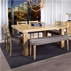 Canadel Loft - Custom Dining Customizable Square Dining Table Set available at Rotmans Furniture, Mattress and Flooring Store in Worcester, MA