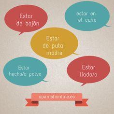5 expresiones coloquiales de España para expresar coloquialmente cómo estamos #Spanish #Spain