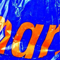 #blue #orange #typography #plastic #bag #typevstime #coolcapitals - @christb- #webstagram