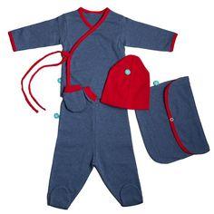 Pack New Born Azul/Rojo http://mamasmolonas.com/melic-bebe-regala-un-pack-de-recien-nacido-muy-molon/