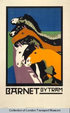 posters designed for the Underground Group by Charles Paine.  from the London Transport Museum's poster section