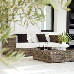 Beautiful outdoor furniture. Its time to spruce up your outdoor space! #outdoorspaces #outdoordecor