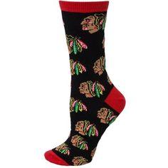 Women's Chicago Blackhawks Descending Grid Logo Tall Socks