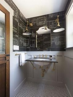 AphroChic: 16 Glamorous Bathrooms With Wallpaper - Live Simply By Annie