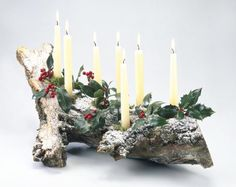 The Yule log is an ancient tradition, but you can make one for your own family's holiday celebration. Put one together with items you find outside, and include it as part of your Yule ritual.