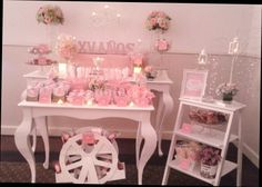 #pickysfactory #mesadedulces #puebla #vintage #rosa #sweet #candybar #candybuffet