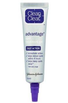 Clean & Clear Clear Advantage Acne Spot Treatment, Tubes (Pack of Beauty Hacks Skincare, Beauty Tips, Beauty Stuff, Beauty Products, Pimple Cream, Acne Spot Treatment, Salicylic Acid, Face Oil, Diy Skin Care