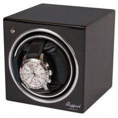 Buy online brand new Single Automatic Watch Winder Rapport London Evolution Black from official dealer. London Watch, Wall Safe, Black Singles, Black Wood, Watches, Automatic Watch, Wood Watch, Evolution, Luxury