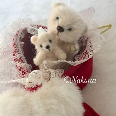 Bears are tiny angels They give a lot of love to you. Baby bear is 4.5cm tall and tiny bear is 2.8cm tall.