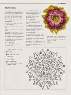 Crochê Tricô - Gráficos: Motivos Circulares em Crochê