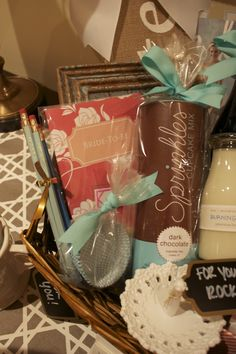 How-To: Engagement Gift Basket - Hosting & Toasting Engagement Gift Baskets, Engagement Gifts, Engagement Parties, Cupcake Mix, Sprinkle Cupcakes, Maid Of Honour Gifts, Maid Of Honor, Diy Gifts, Best Gifts